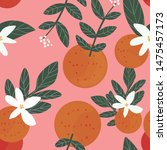 vector seamless fruit pattern.... | Shutterstock .eps vector #1475457173