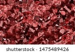 Small photo of macro photo of red ruby druse