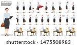 business woman character set.... | Shutterstock .eps vector #1475508983