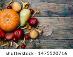 Autumn Seasonal Vegetables And...