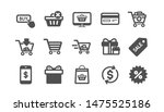 shopping bag icons. gift ... | Shutterstock .eps vector #1475525186