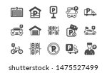 parking icons. garage  valet... | Shutterstock .eps vector #1475527499