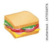 tasty sandwich with cheese ... | Shutterstock .eps vector #1475536976