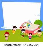 boys and girls | Shutterstock .eps vector #147557954
