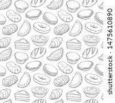 seamless hand drawn doodle set...   Shutterstock .eps vector #1475610890