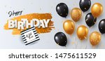 happy birthday card. holiday... | Shutterstock .eps vector #1475611529