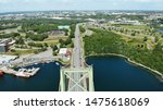 View to Dartmouth from Mackay bridge aerial view
