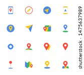 16 flat gps and maps icons pack ...