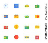 16 flat radio icons pack in...