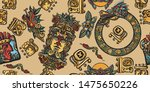 mayan pattern. ancient mexican...   Shutterstock .eps vector #1475650226