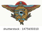ancient egypt color tattoo.... | Shutterstock .eps vector #1475650310