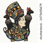 ancient egypt. portrait... | Shutterstock .eps vector #1475650679