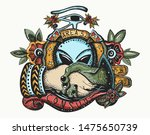 storm area 51. color tattoo.... | Shutterstock .eps vector #1475650739