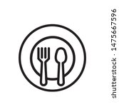 plate fork and spoon vector... | Shutterstock .eps vector #1475667596