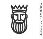 logo bearded king in a crown | Shutterstock .eps vector #1475683856