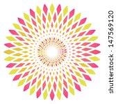 vector abstract circle flower | Shutterstock .eps vector #147569120