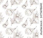 seamless pattern  floral...   Shutterstock . vector #1475698640