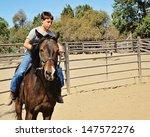 Boy Riding Horse Bareback