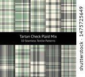 plaid pattern set. seamless... | Shutterstock .eps vector #1475725649
