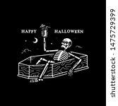 resting skeleton with cocktail...   Shutterstock .eps vector #1475729399