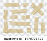 adhesive tape set. sticky paper ... | Shutterstock .eps vector #1475738726