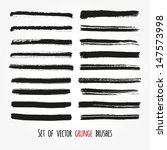 set of vector grunge brushes.... | Shutterstock .eps vector #147573998