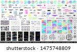 glitch overlays bundle.... | Shutterstock .eps vector #1475748809