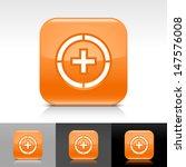 plus in circle icon. orange...
