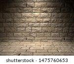 stone realistic brick wall  3d... | Shutterstock . vector #1475760653