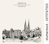 hanseatic city of  lubeck ... | Shutterstock .eps vector #1475767523