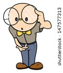 funny dumb boy   vector... | Shutterstock .eps vector #147577313