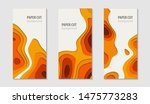 paper cut background. set of... | Shutterstock .eps vector #1475773283