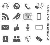 communication and media | Shutterstock .eps vector #147578798