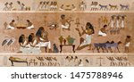 Ancient Egypt Frescoes. Life Of ...