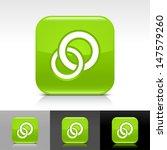 circles icon set. green color...