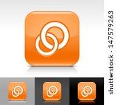circles icon set. orange color...