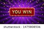 you win banner. winner... | Shutterstock .eps vector #1475808536