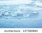 Ice Background  Frozen Lake Or...
