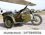 Old Motorcycle M 72  Military...