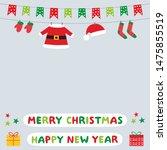 christmas vector background... | Shutterstock .eps vector #1475855519
