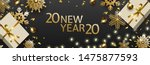 new year 2020 and christmas... | Shutterstock .eps vector #1475877593