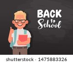 back to school. a poster with a ... | Shutterstock .eps vector #1475883326