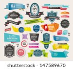 set of retro ribbons and labels ... | Shutterstock .eps vector #147589670