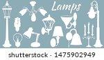 lamp  floor lamp  wall lamp.... | Shutterstock .eps vector #1475902949