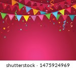 cartoon decoration flags with...   Shutterstock .eps vector #1475924969