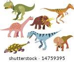vector dinosaurs set 1 | Shutterstock .eps vector #14759395