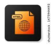 orange glowing neon html file...   Shutterstock .eps vector #1475944493