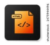 orange glowing neon html file...   Shutterstock .eps vector #1475944496