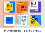 set of sale banner template... | Shutterstock .eps vector #1475947580