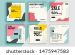 set of sale banner template... | Shutterstock .eps vector #1475947583
